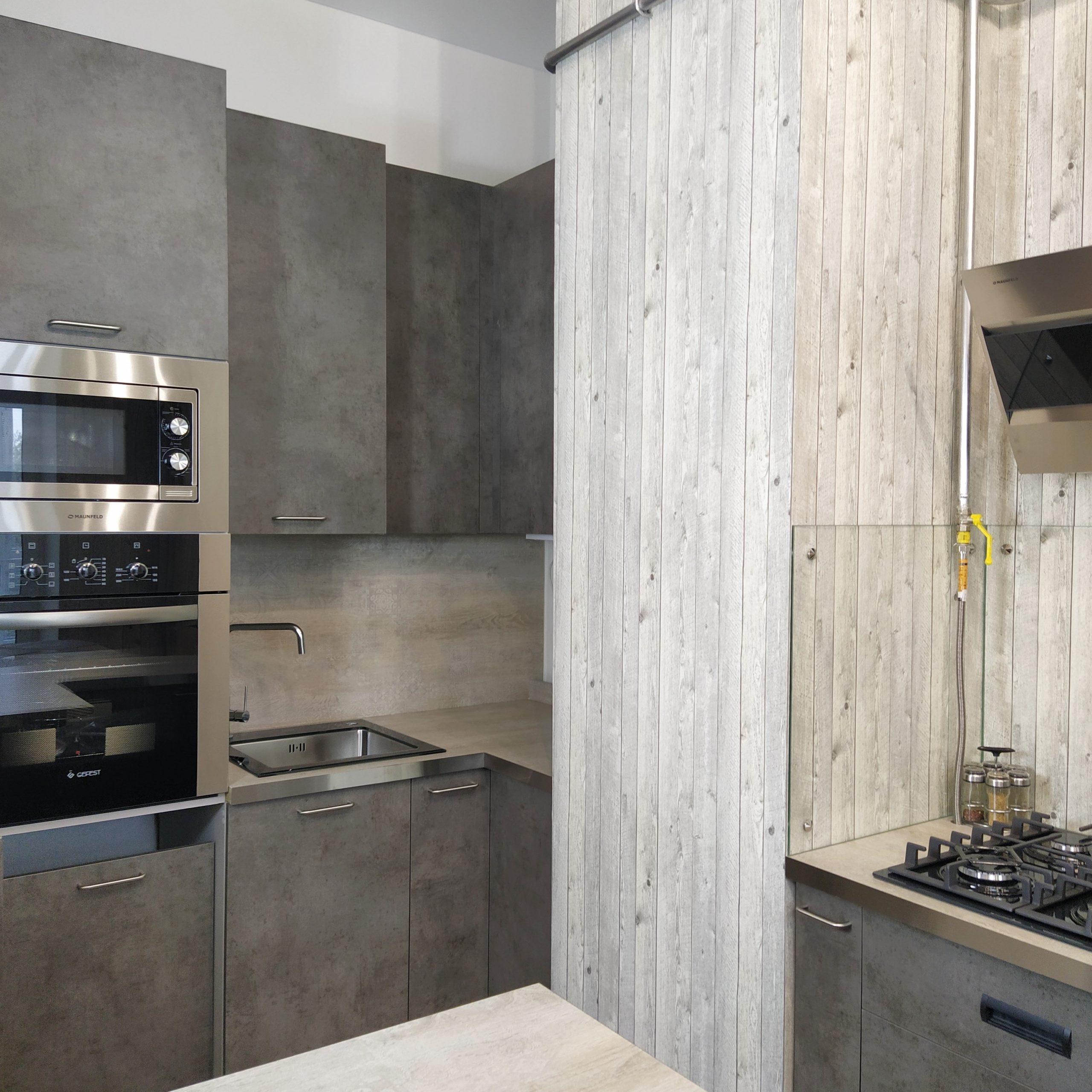 Кухня в стиле лофт в Твери